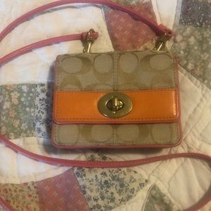 Authentic Coach Crossbody Wallet